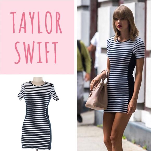 Topshop as seen on Taylor Swift Striped Mini Dress.  M 5acae4f32c705ddc6b53e12f 0ac7bb838